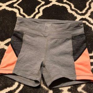 Athleta Girl size 7 gray and orange shorts